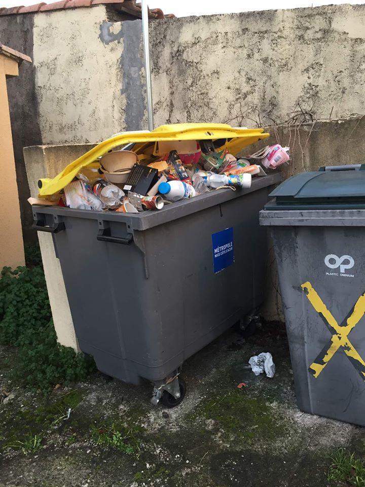Comme à Nice en avril 2019, les habitants de la région cagnoise aimeraient que le ramassage des poubelles jaunes passe à deux fois par semaine. (DR)