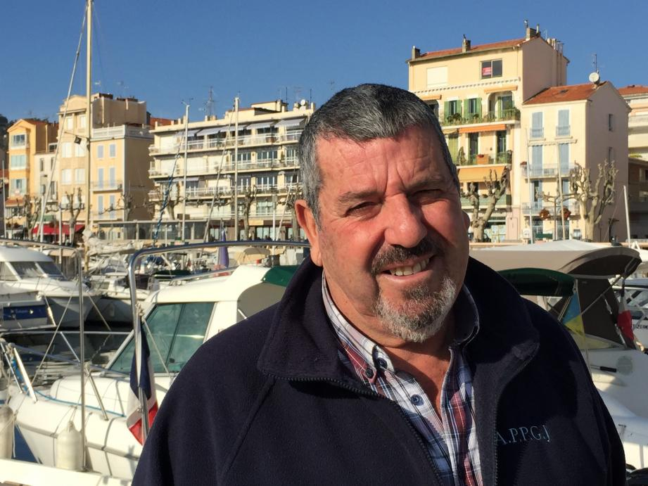 Noël Allo président de l'association des pêcheurs plaisanciers du Vieux Port de Golfe-Juan depuis 15 ans.