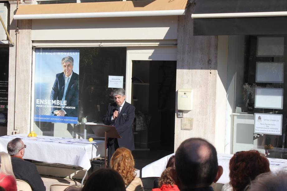 Devant de nombreux fidèles, Patrice Novelli a rappelé les raisons de sa candidature aux élections municipales.