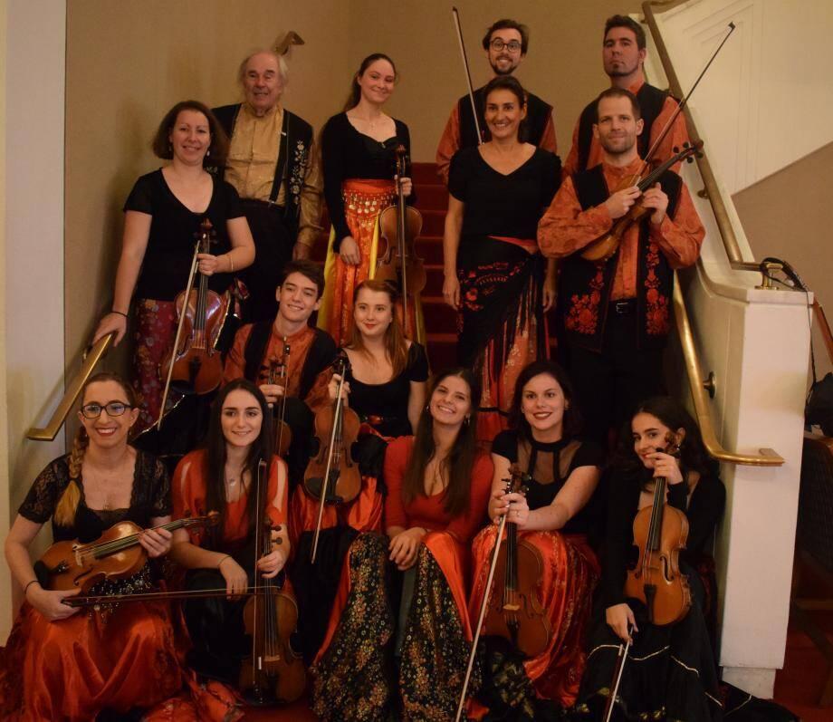 Les violonistes réunis.