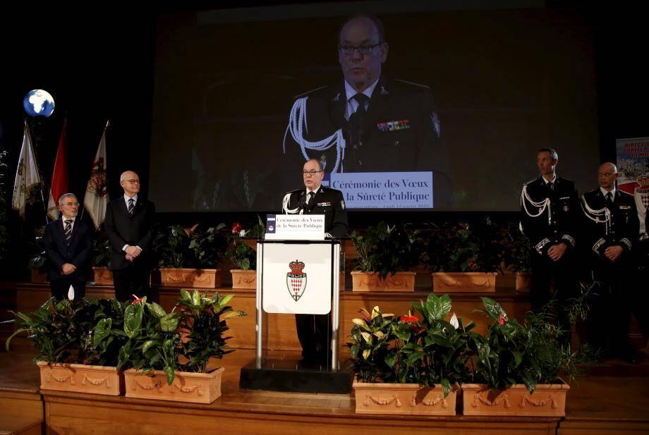 Le prince Albert II : « Dans ce domaine (de la sécurité, NDLR), comme dans d'autres, rien n'est jamais acquis. »