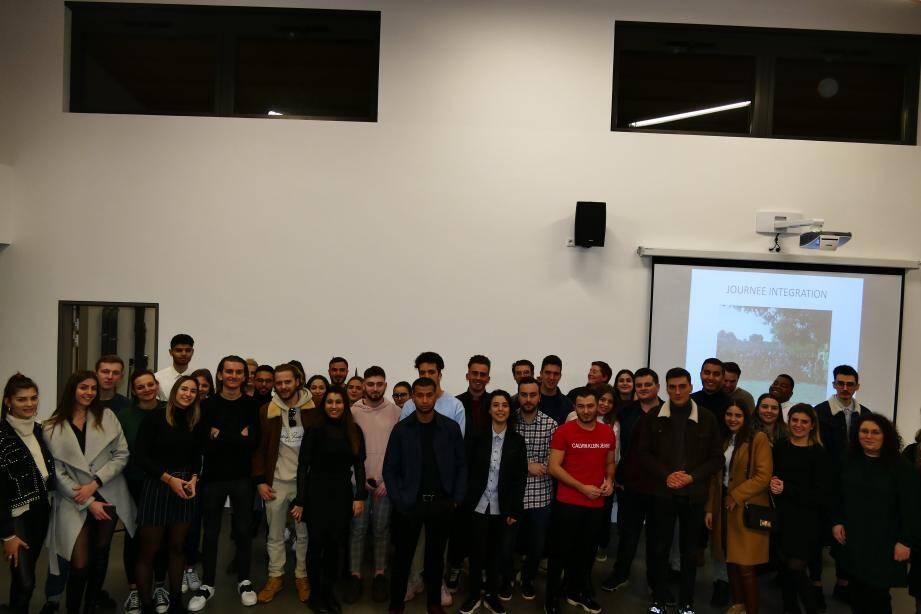 Les lauréats du BTS (session 2019) ont été reçus au lycée Audiberti par Maryline Benitah, directrice déléguée aux formations professionnelles et technologiques, et par Jocelyne Girault, proviseure.