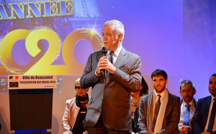Gérard Spinelli a surtout enchaîné les remerciements durant ses vœux.