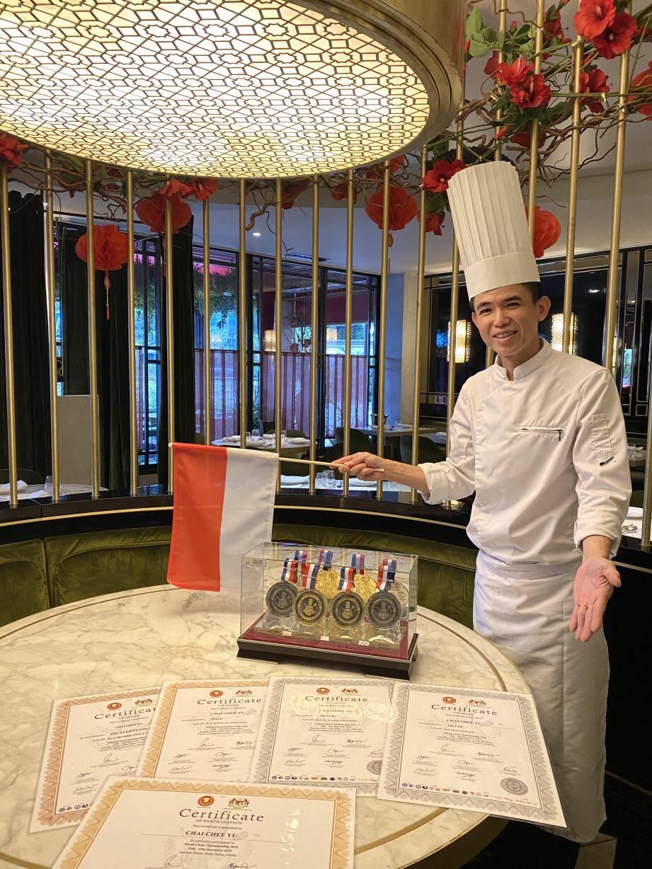 Le chef Chai Chee Yu vient de remporter quatre médailles au concours mondial de cuisine asiatique, en représentant Monaco.