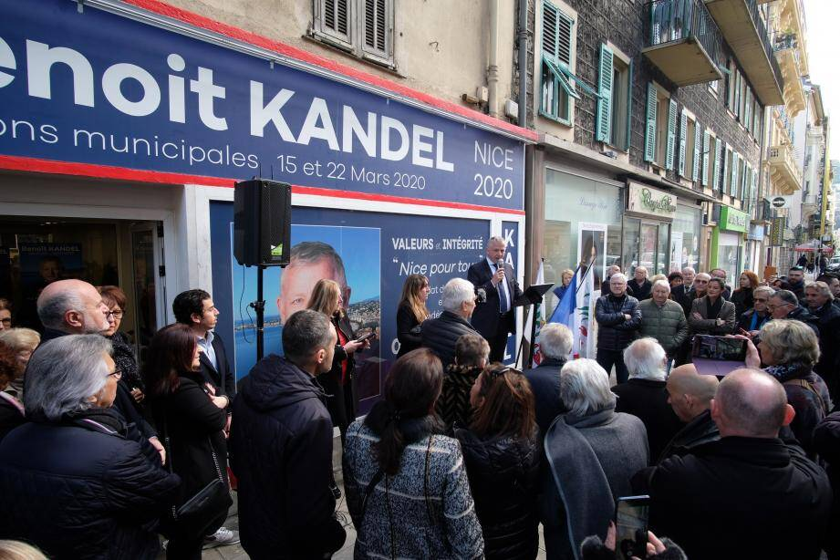 Benoît Kandel a inauguré, hier, au 7 rue Barla, son quartier général de campagne.