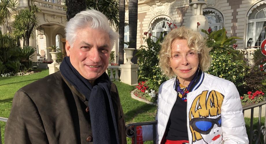 Jean-Marie Blanchard, nouveau directeur général de l'orchestre de Cannes a été accueilli par la présidente Anny Courtade.
