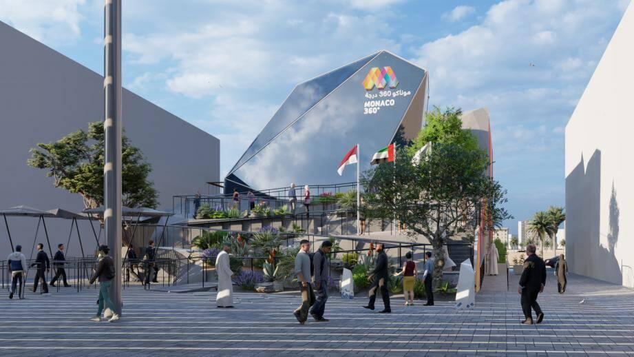 Le pavillon de Monaco devrait attirer 7 200 visiteurs par jour.