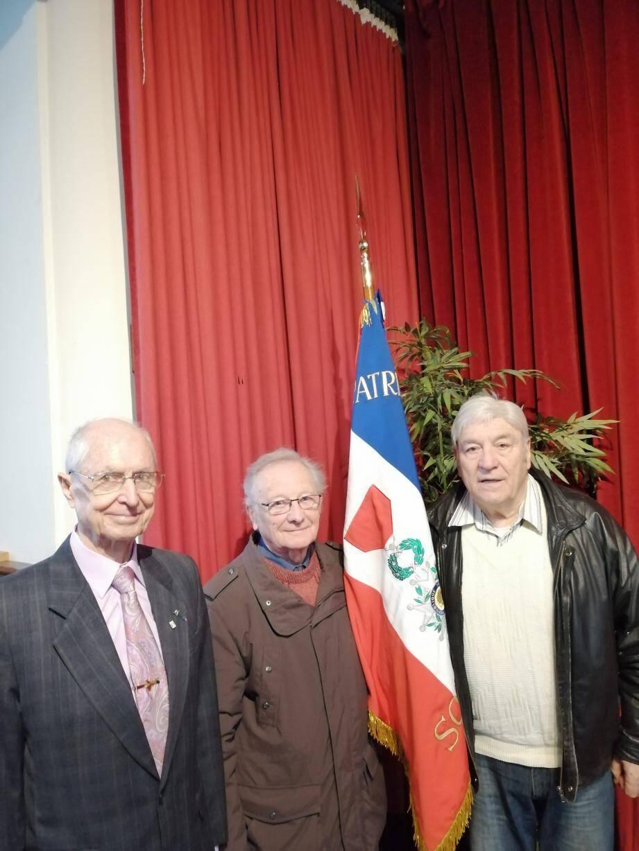 Le général Fouchet, Jean Ardoise et Pierre Olivero.