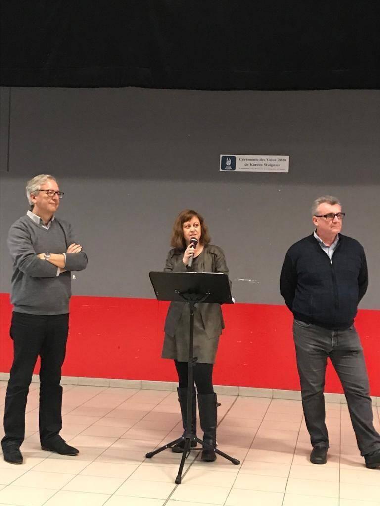 Devenue leader du groupe d'opposition « Contres Autrement » et candidate aux municipales, Kareen Woignier a présenté ses vœux à la population.