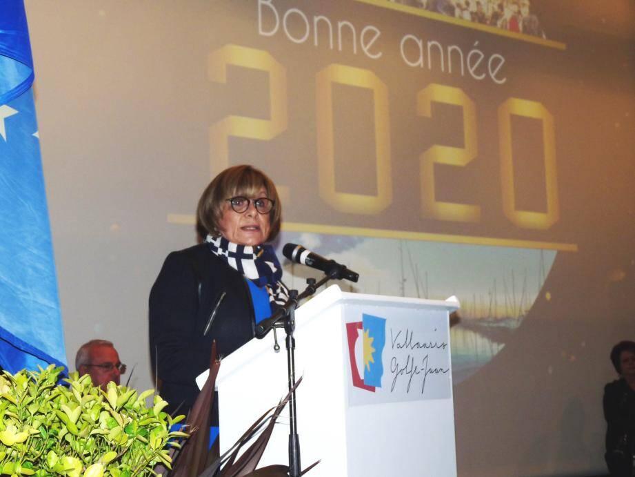Michelle Salucki, mardi soir, a présenté ses vœux à la population.