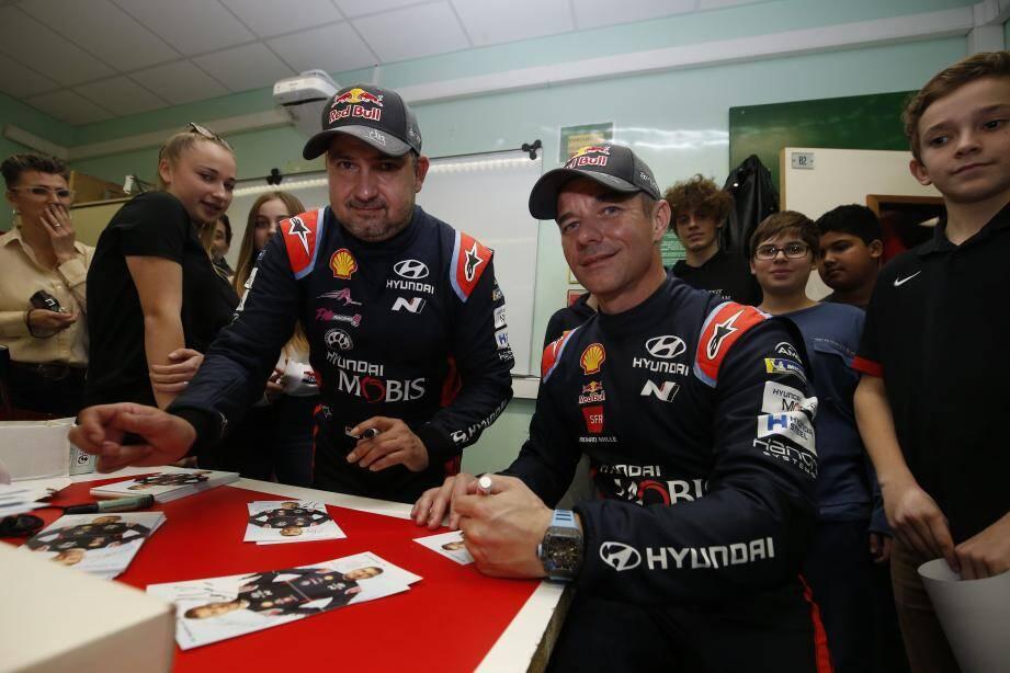 Les champions Sébastien Loeb et Daniel Elena sont retournés à l'école... au collège Charles III pour rencontrer les élèves