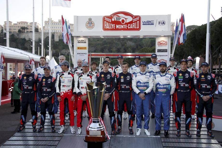 La première photo de la famille WRC de cette saison 2020 des rallyes.