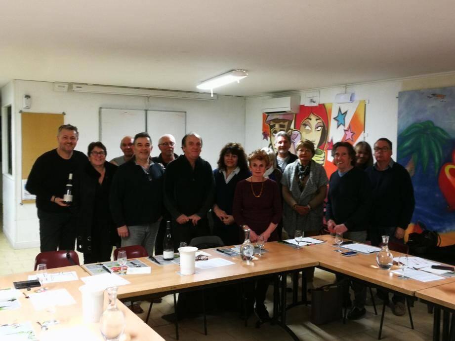 La réunion du club œnologique au club house Jean-Gioan.(DR)
