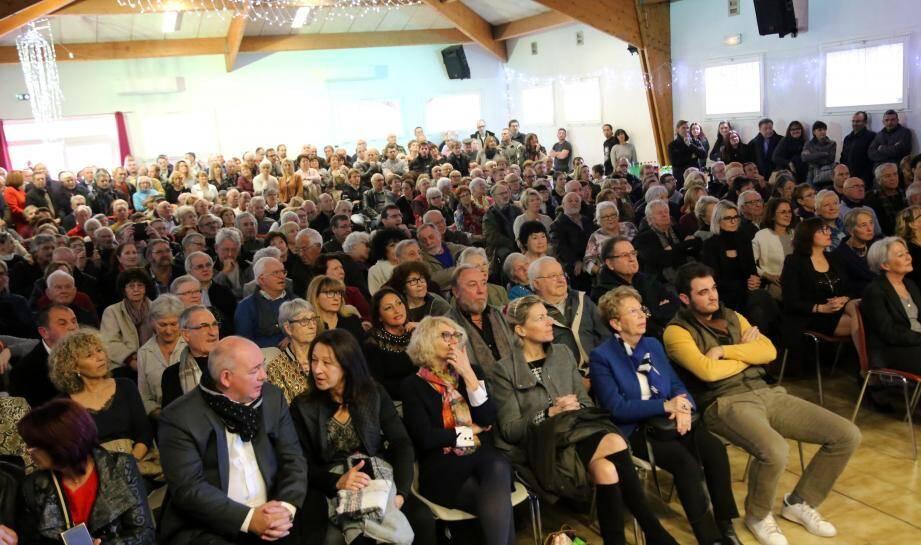 Le maire, Patrick Genre, a présenté ses vœux devant près de 300 personnes à l'Oustaou per touti.