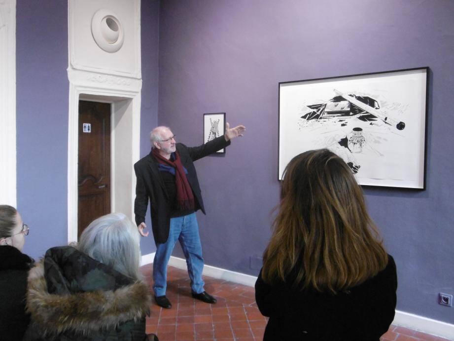 Les trois artistes exposent leurs dessins, au musée de Vence, jusqu'au 14 juin.(DR)