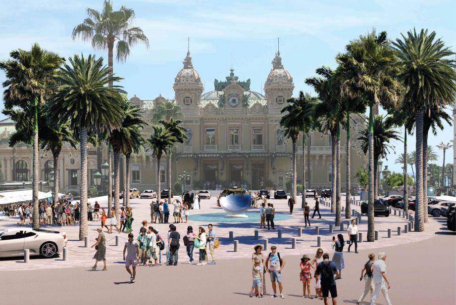 Au printemps, Monte-Carlo aura des faux airs de palmeraie.(Esquisse Michel Desvigne Paysagiste)