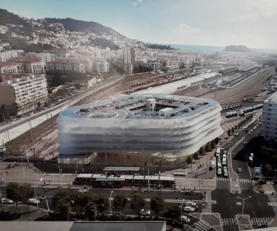 Les nouveaux bâtiments à l'emplacement de l'actuel parking relais de Pont-Michel avaient fait l'objet d'un concours restreint de maîtrise d'œuvre.