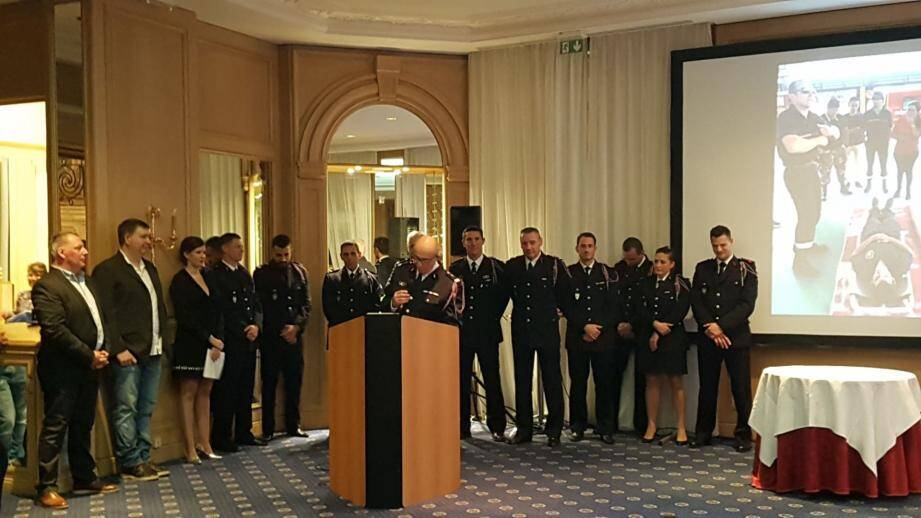 Les pompiers de SPAI ont rendu compte de leur action au Carlton où était célébré le 20ème anniversaire de l'association. (DR)