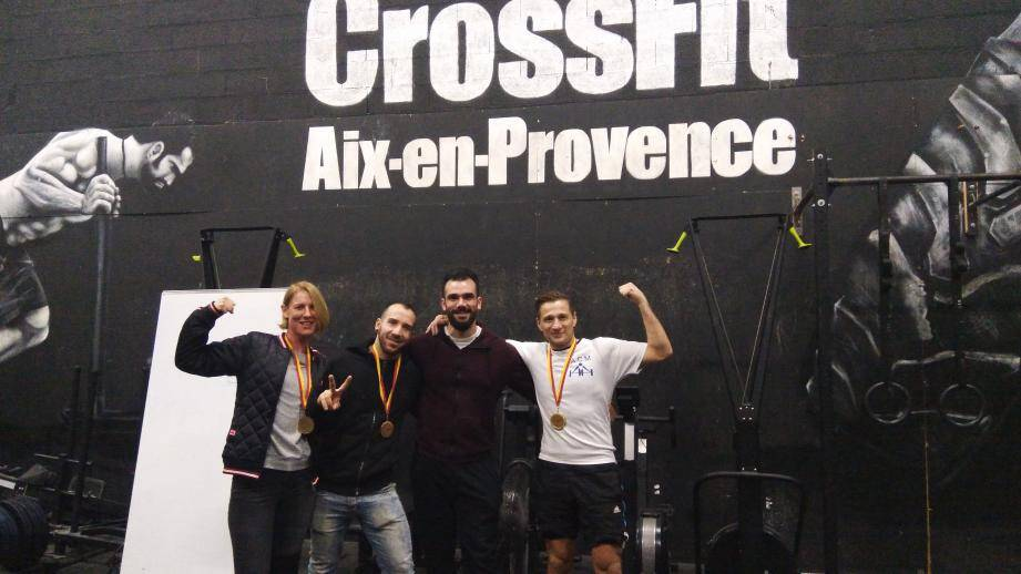 L'équipe mentonnaise à Aix-en-Provence. (DR)