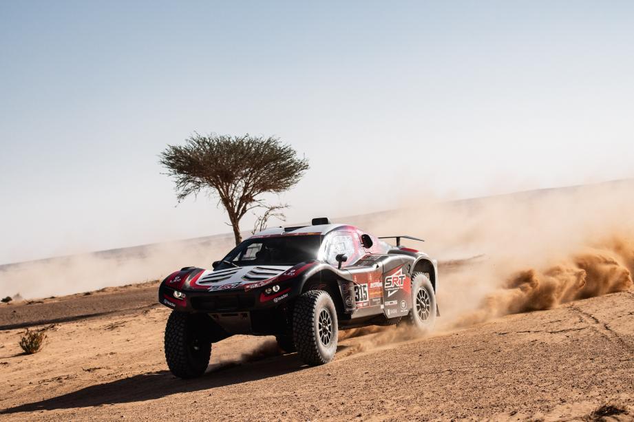 Mathieu Serradori tient sa première victoire d'étape au Dakar.