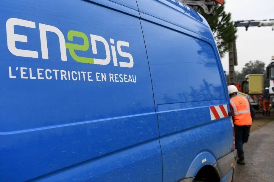 Un véhicule d'Enedis (photo d'illustration).