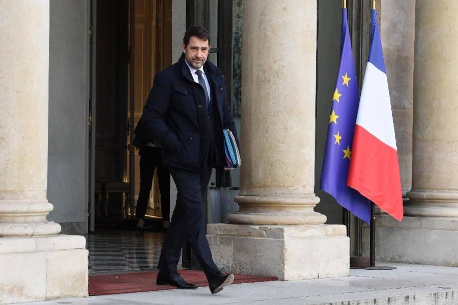 Le ministre de l'Intérieur Christophe Castaner, le 24 janvier 2020 à Paris