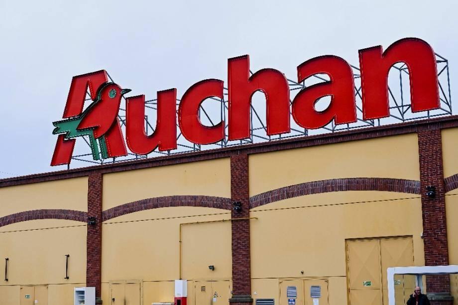 Un supermarché Auchan, le 3 janvier 2020 à Englos, près de Lille