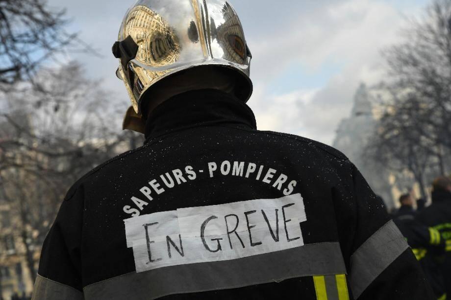 Manifestation de pompiers le 28 janvier 2020 à Paris