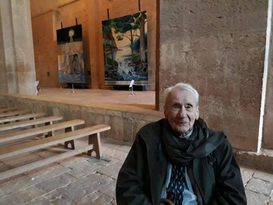 Lors d'une rare apparition, voici un an quasiment jour pour jour à l'Abbaye du Thoronet pour une exposition de tapisseries inspirées des œuvres de son père.