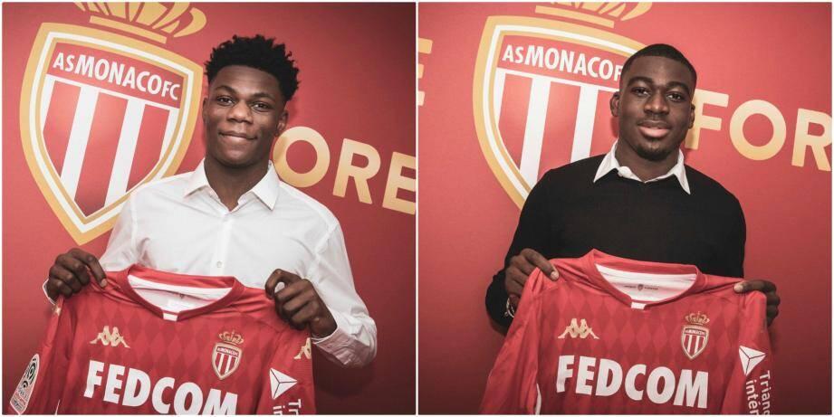 Aurélien Tchouaméni (20 ans) et Youssouf Fofana (21 ans) se sont engagés, mercredi soir, avec l'AS Monaco jusqu'en juin 2024. Les transferts des deux milieux de terrain ont coûté plus de 30 millions d'euros.