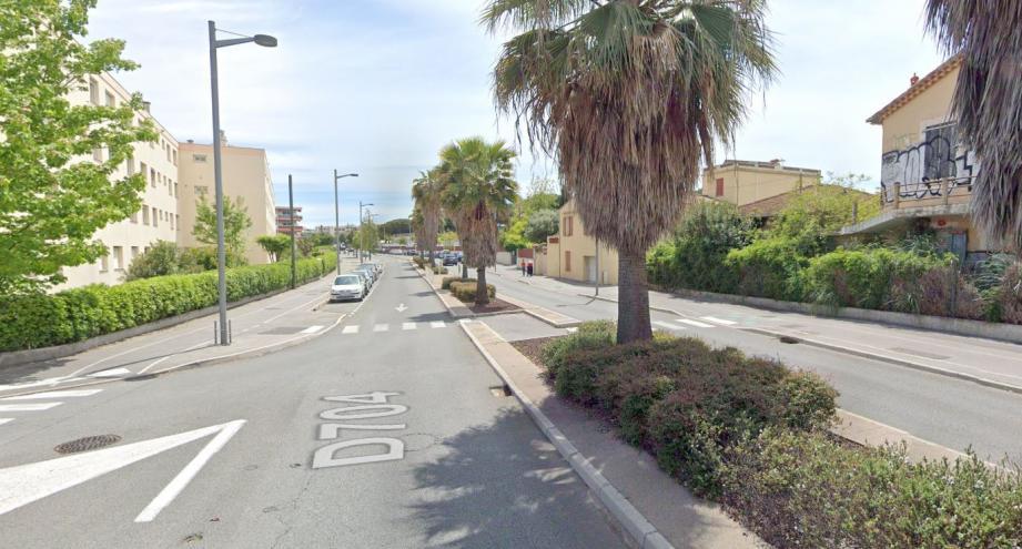 Un piéton a été renversé avenue Jules-Grec, à Antibes, ce mercredi 22 janvier.