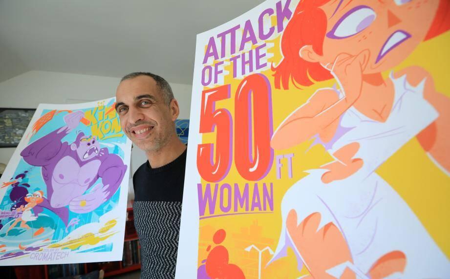 Eric Dragon s'est pris au jeu de revoir les affiches de films fantastiques des années 50