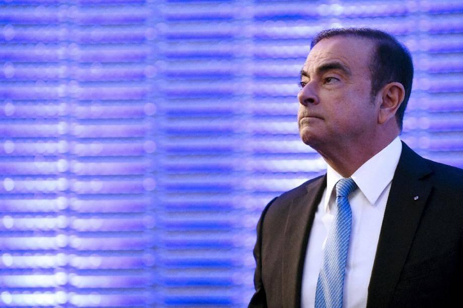 Photo d'archives de l'ex patron de Renault-Nissan Carlos Ghosn le 6 octobre 2017 à Paris.