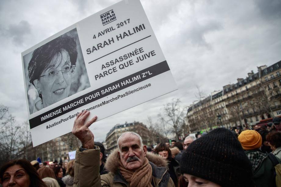 Lors de la manifestation en mémoire de Sarah Halimi à Paris le 5 janvier.