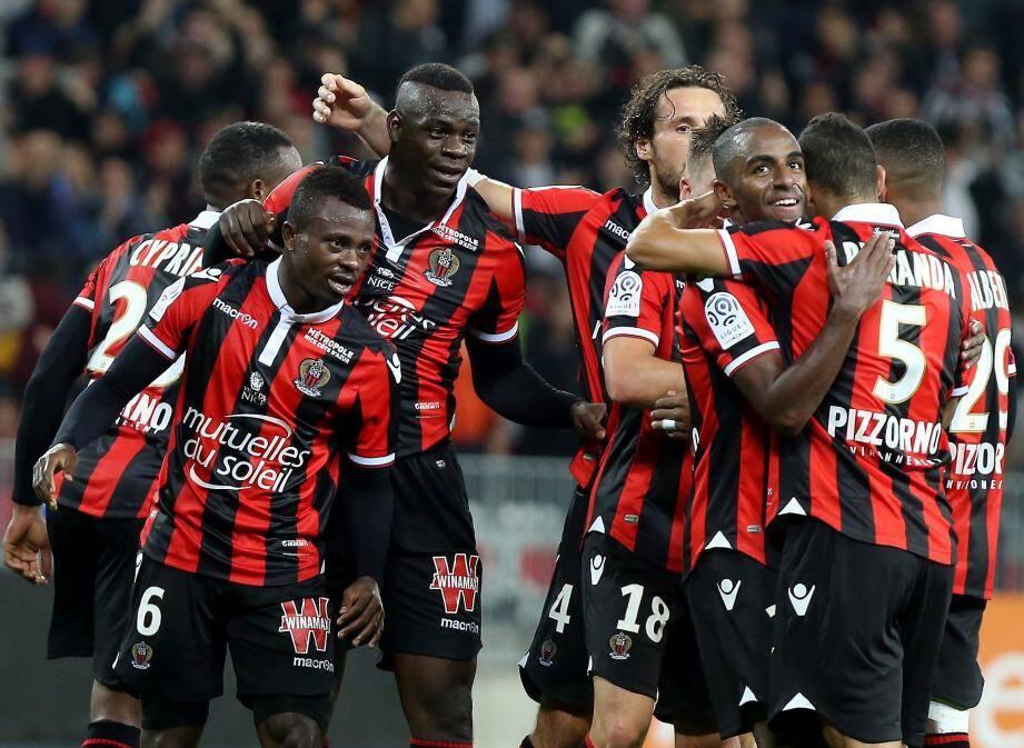 En plus de faire le plein de points, le Gym espère aussi le faire à l'Allianz, dimanche contre Nantes (15 heures). Ce serait vraiment mérité ! (Photo J-F Ottonello) OGC NICE - OLYMPIQUE LYONNAIS 9ème journée de ligue 1 de football 2016/2017 à l'Allianz Riviera de Nice - Vendredi 14 octobre 2016 à 20h45