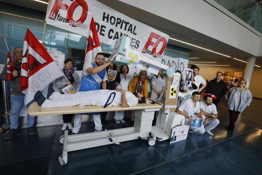 Ce mardi 21 janvier, 100% des manipulateurs radio de l'Hôpital Simone-Veil étaient grévistes et tous les examens d'imagerie ont été annulés.