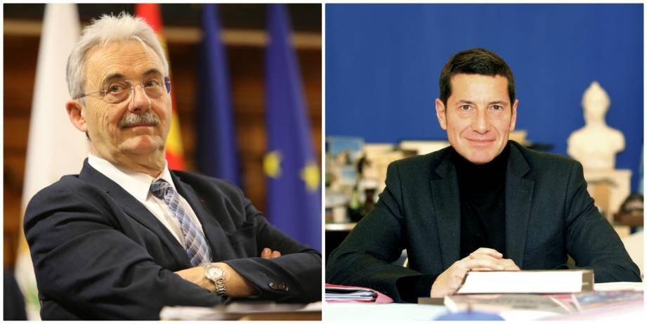 Louis Nègre, maire de Cagnes-sur-Mer et David Lisnard, maire de Cannes.