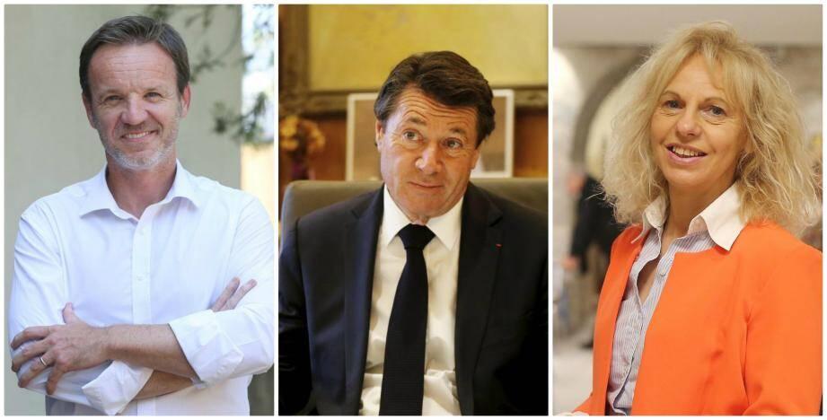 Qui, de Cédric Roussel (à gauche) et Joëlle Martinaux (à droite), affrontera le maire de Nice Christian Estrosi?