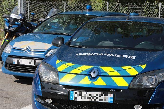 Les véhicules de la brigade de gendarmerie de l'autoroute.