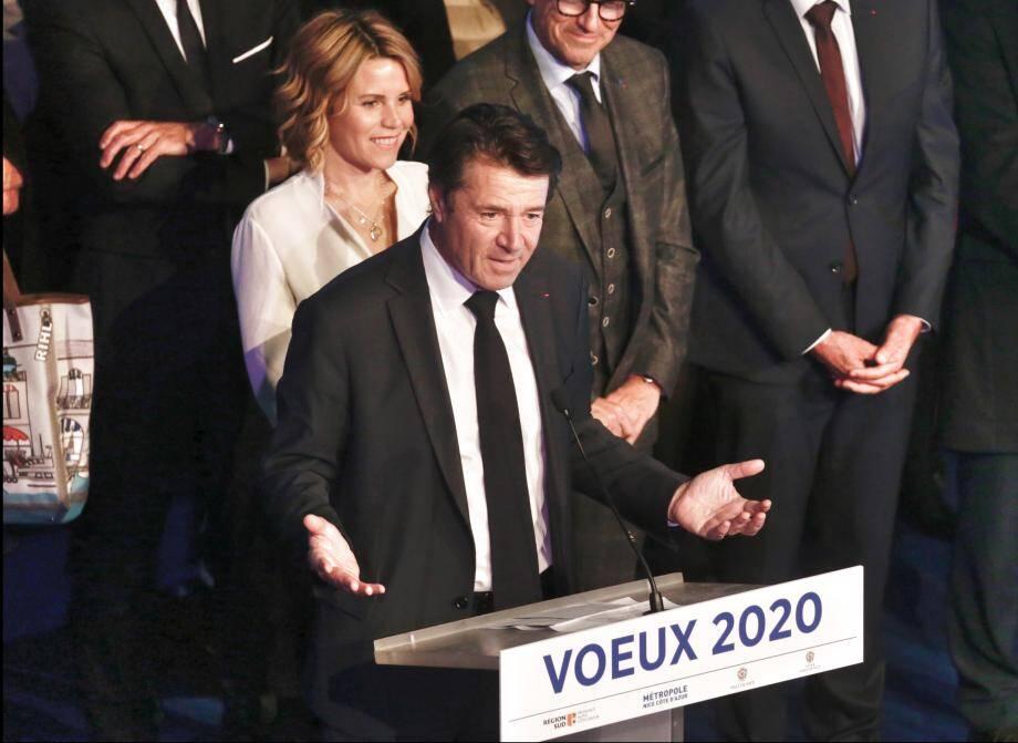Christian Estrosi à l'occasion de la cérémonie de voeux du maire de Nice et président de la Métropole.