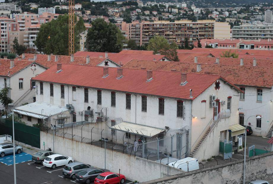 Le centre de rétention administrative, situé à Nice dans le quartier Vauban.