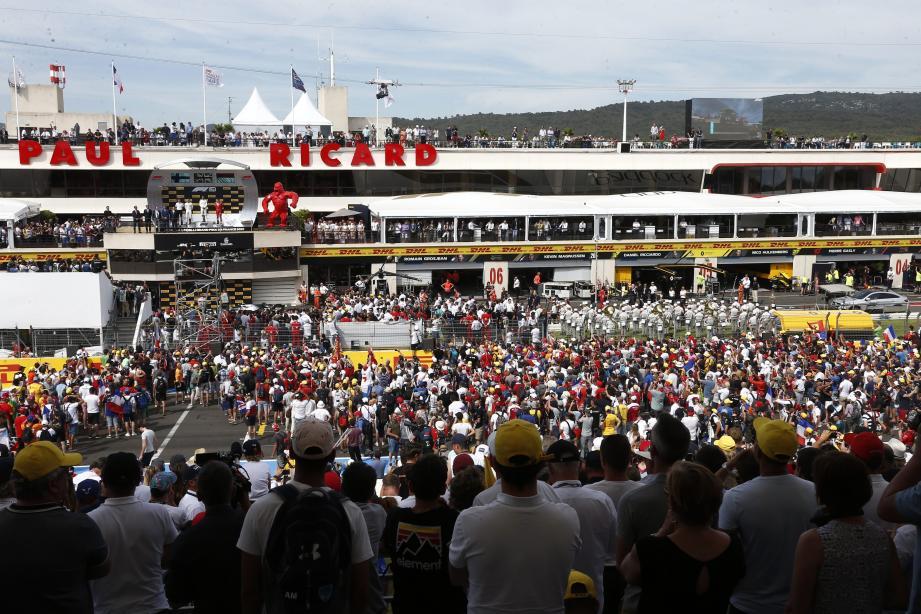 Circuit du Castellet, Grand Prix de France de Formule 1.