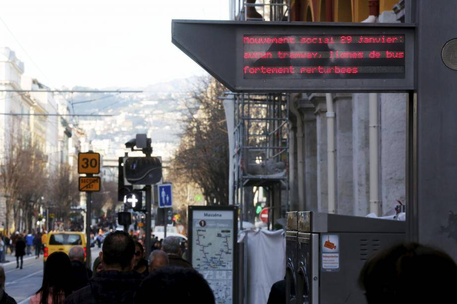 Pas de tramway à Nice pendant la grève. Illustration.