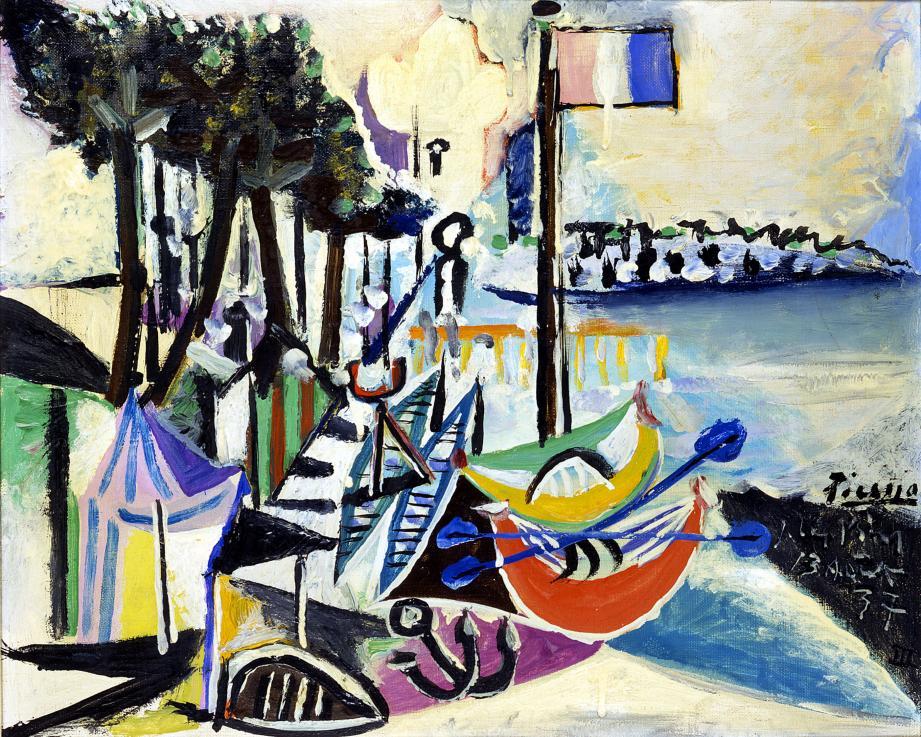 Paysage de Juan les Pins. 1937. Huile sur toile. 38,1 x 46,5 cm