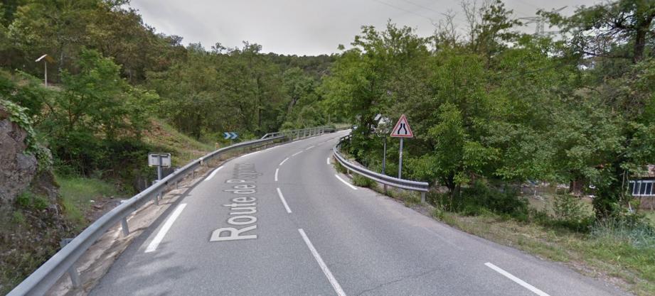 La route départementale 209 entre Pégomas et Mouans-Sartoux.