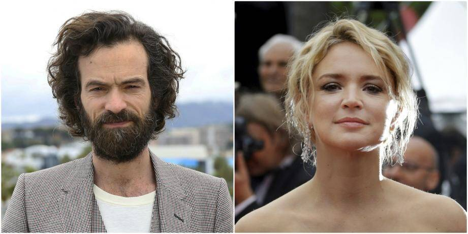 Romain Duris et Virginie Efira à Cannes en 2018 et 2019.