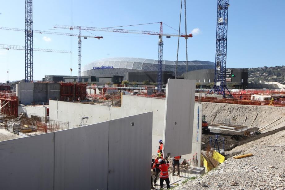Le chantier d'Ikea dans la plaine du Var, ce mercredi matin.
