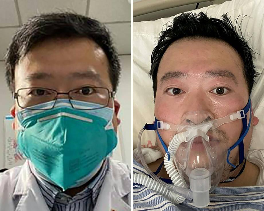 Le médecin chinois Li Wenliang, un lanceur d'alerte, dont la mort provoquée par le nouveau coronavirus a été confirmée le 7 février 2020.