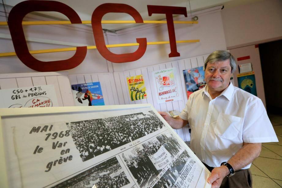 Alain Serre, président de l'institut CGT d'Histoire Sociale.