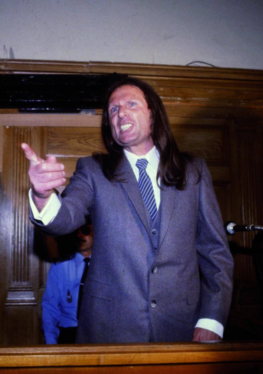 Joseph dit Tommy Recco lors de son procès en 1980 devant les assises du Var.